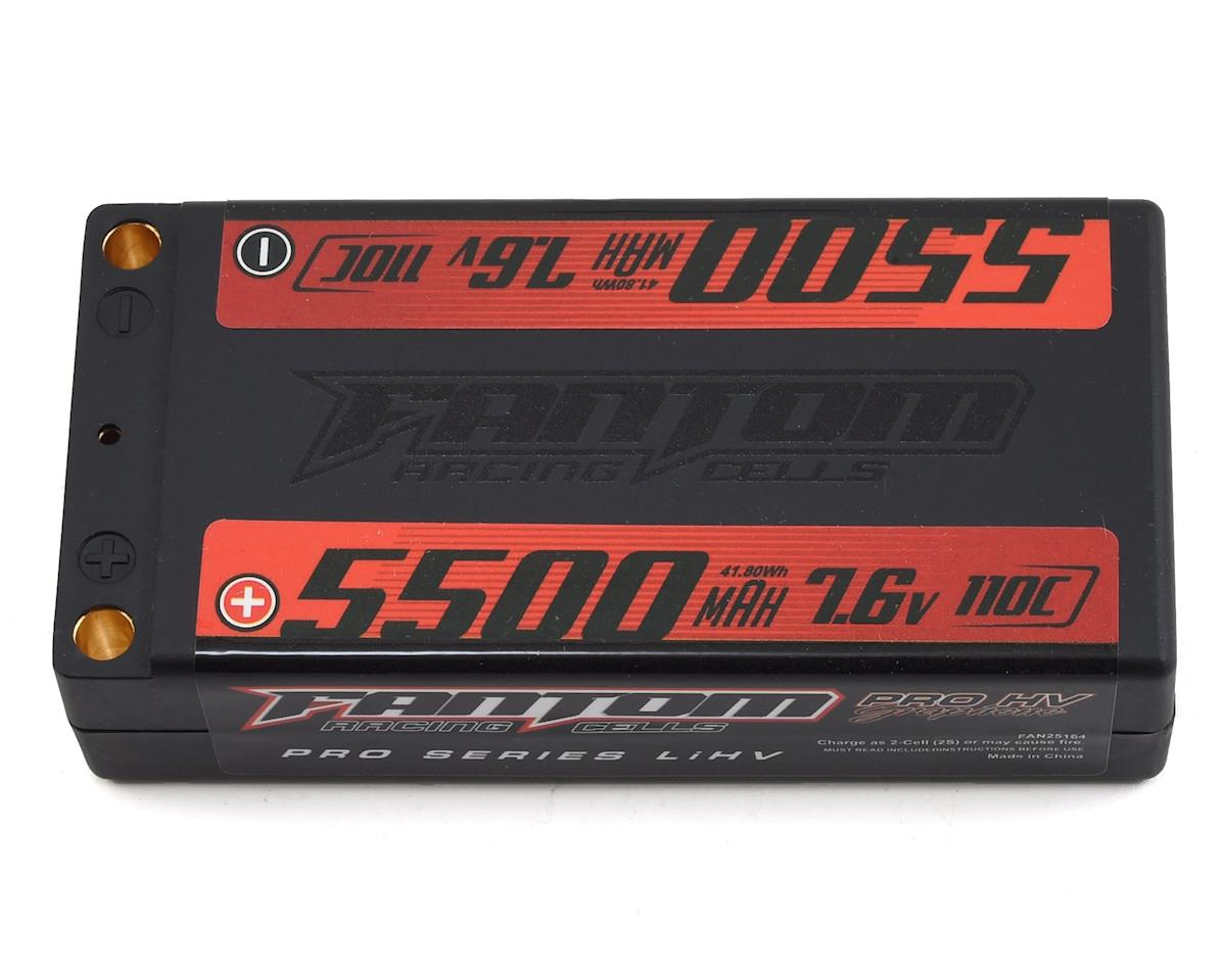 Fantom Pro Series HV Shorty 2S LiPo 110-160C Battery (7.6V/5500mAh)