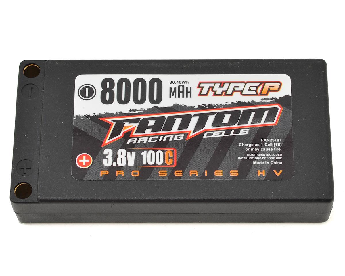 Fantom Racing Pro Series HV 1S LiPo 100C Battery (3.8V/8000mAh)