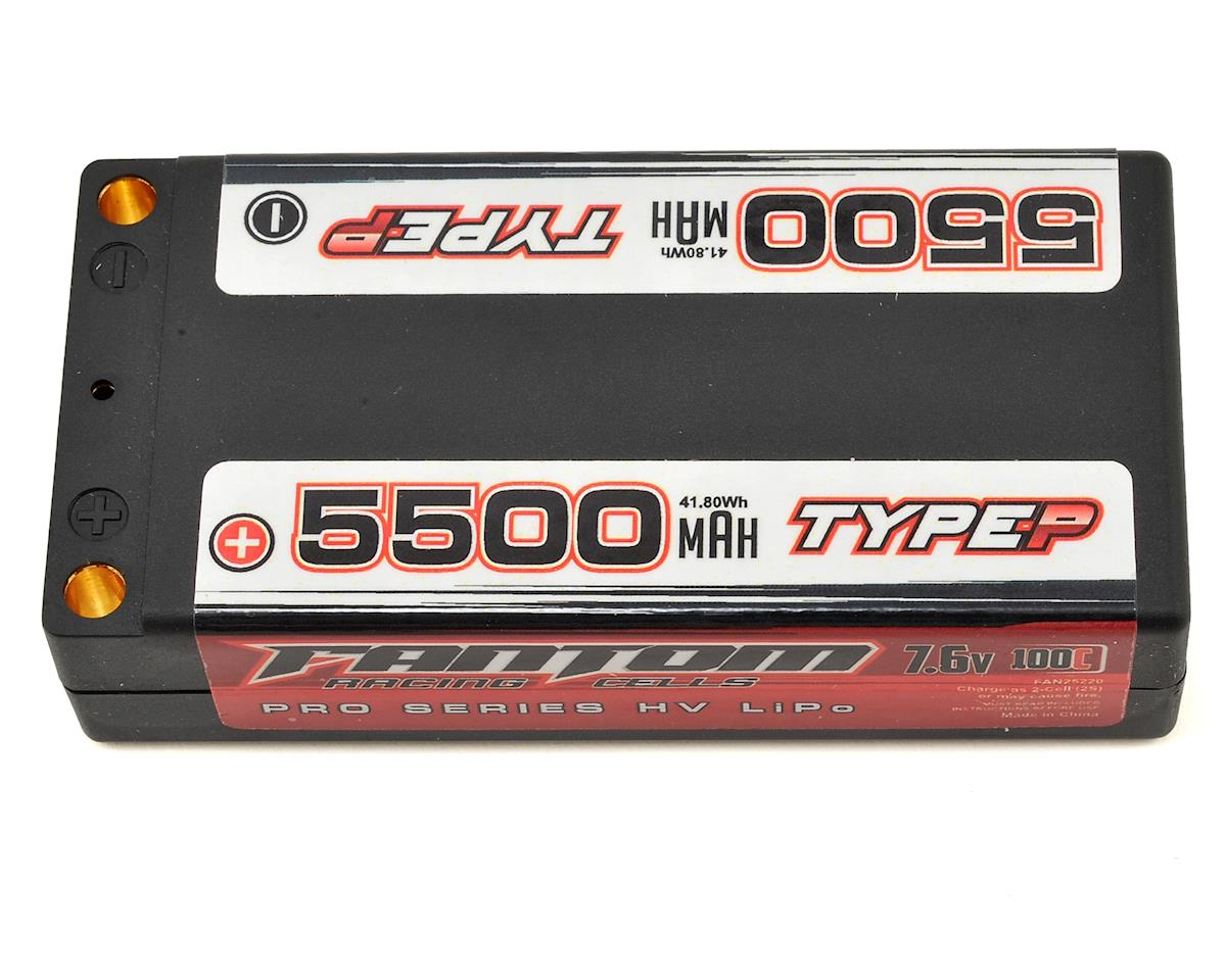 Fantom Racing Pro Series HV Shorty 2S LiPo 100C Battery (7.6V/5500mAh)