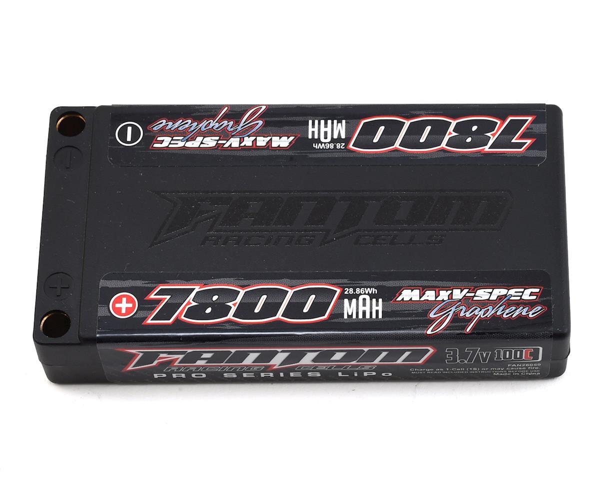 Fantom Pro Series MaxV-SPEC Graphene 1S LiPo 100C Battery (3 7V/7800mAh)  w/5mm Bullets
