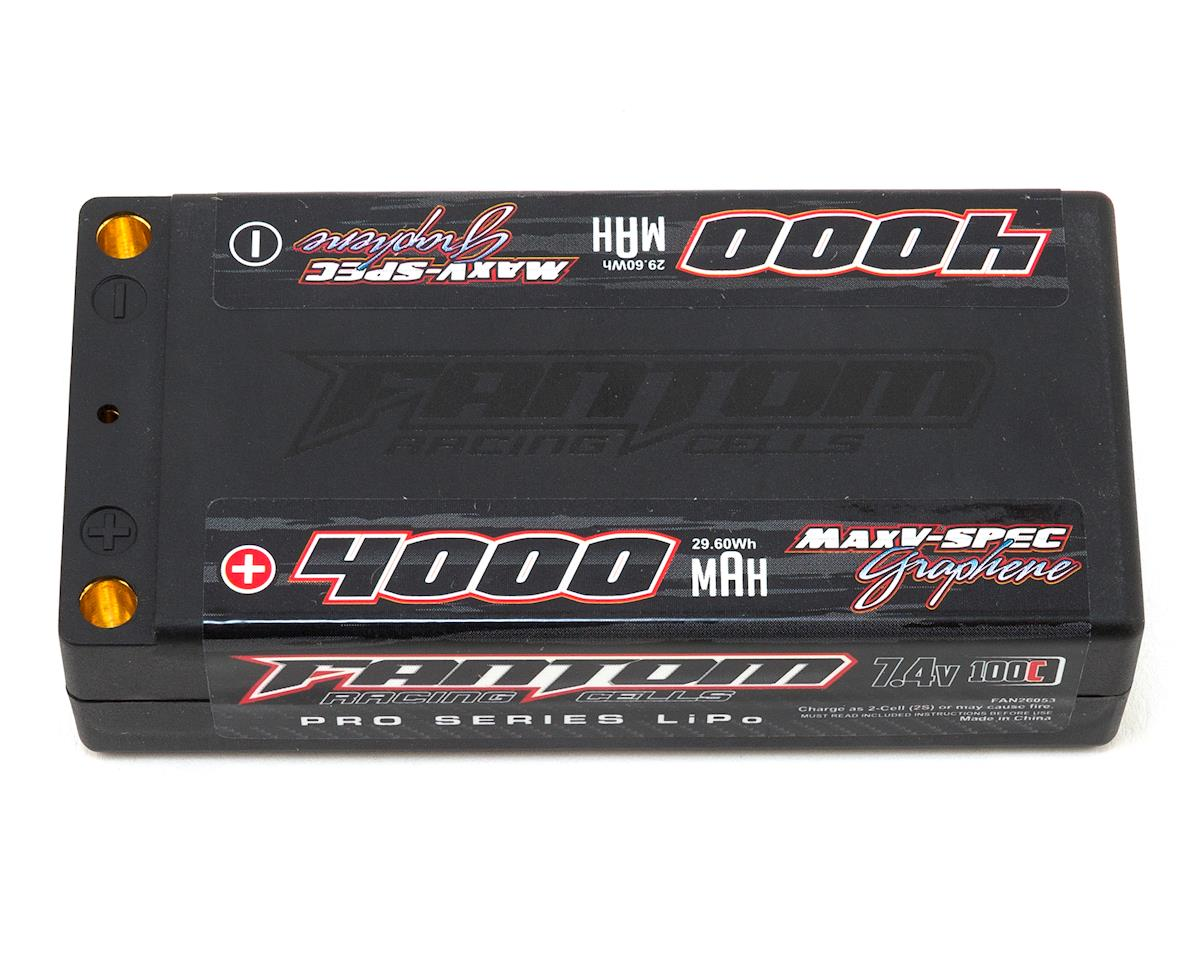 Fantom Pro Series MaxV-SPEC Shorty 2S LiPo 100C Battery (7.4V/4000mAh)