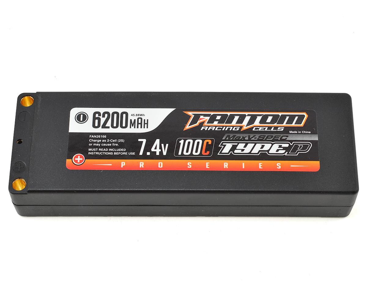 Fantom Pro Series MaxV-SPEC 2S LiPo 100C Battery (7.4V/6200mAh)