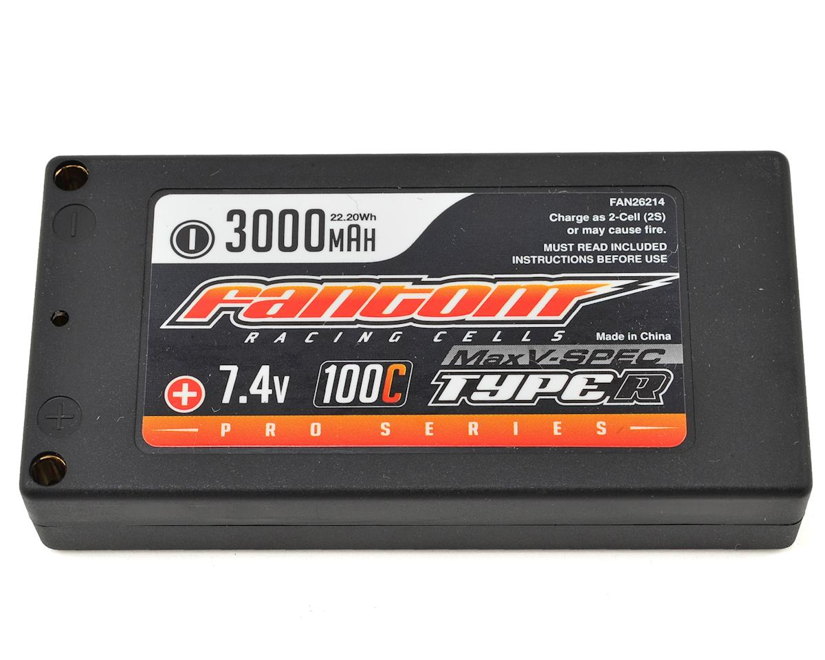 Fantom ProSeries MaxVSPEC Thin Shorty 2S LiPo 100C Battery (7.4V/3000mAh)
