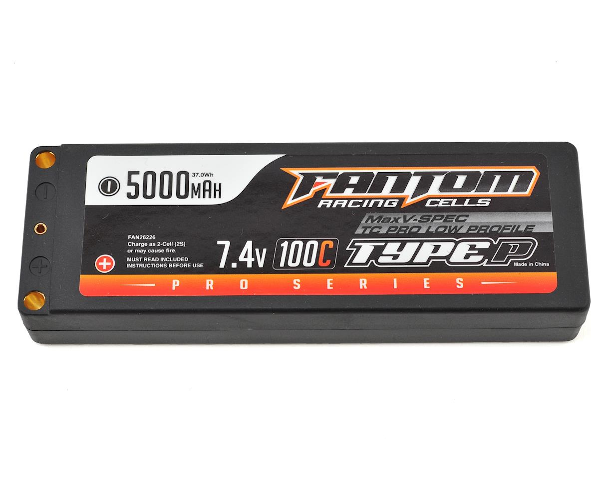 Fantom Racing Pro Series MaxV-SPEC Low Profile TC 2S LiPo 100C Battery