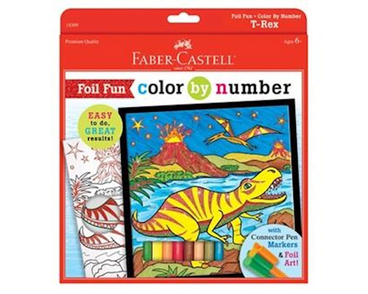 Faber-Castell Color By Number T-Rex Foil Fun