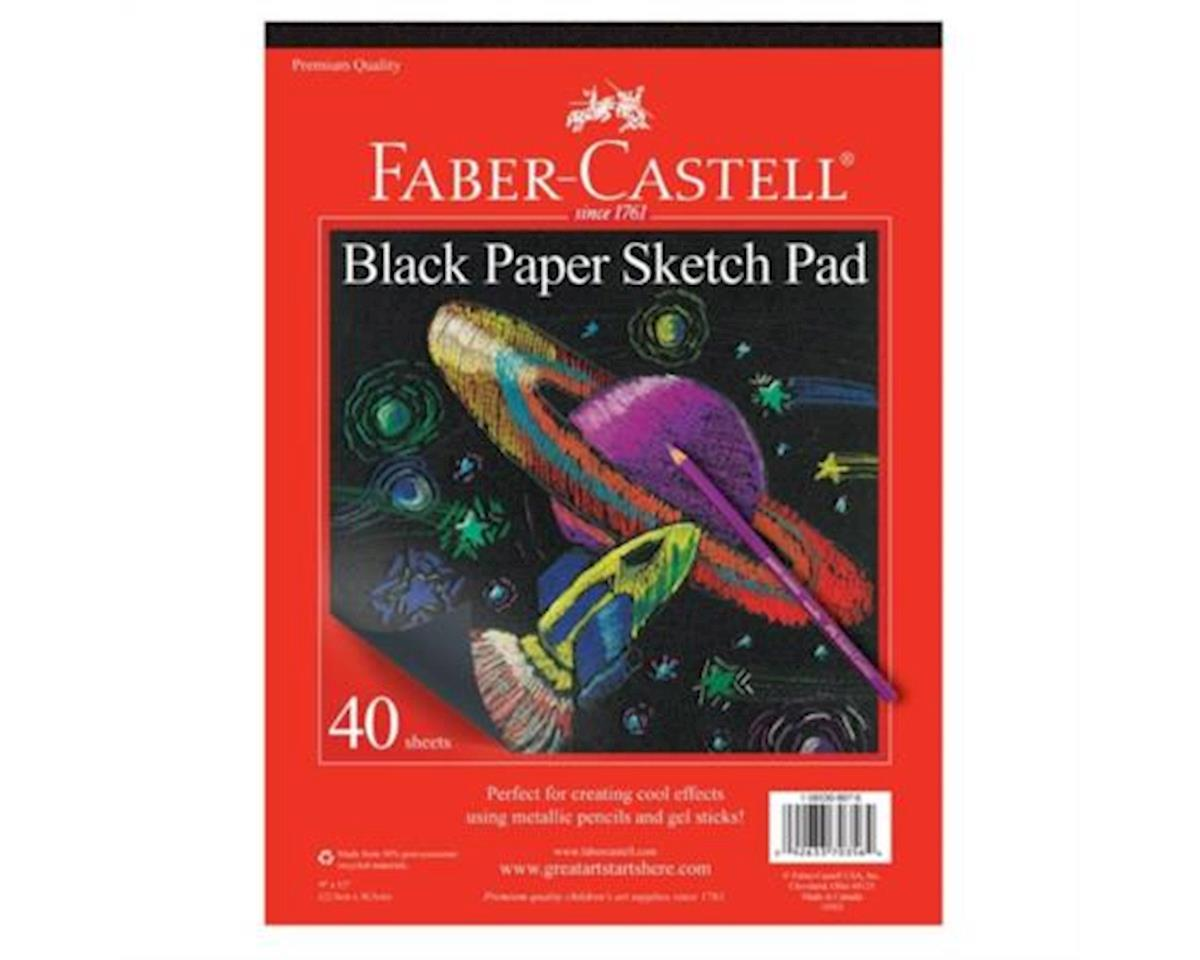 "Faber-Castell Black Paper Pad 9"" X 12"""