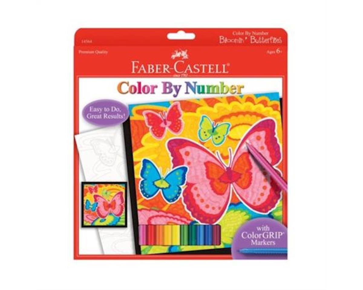 Color By Number Bloomin Butterflies by Faber-Castell