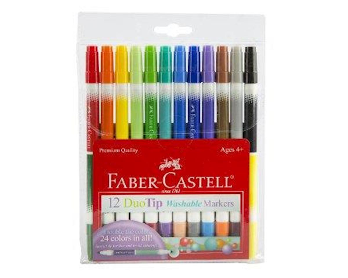 Faber-Castell 12-Count Duo Tip Washable Markers