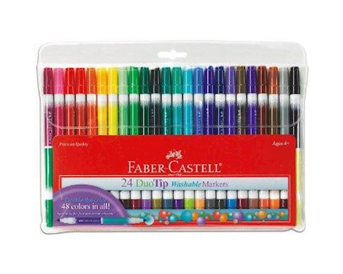 Faber-Castell - DuoTip Washable Markers - 24 count