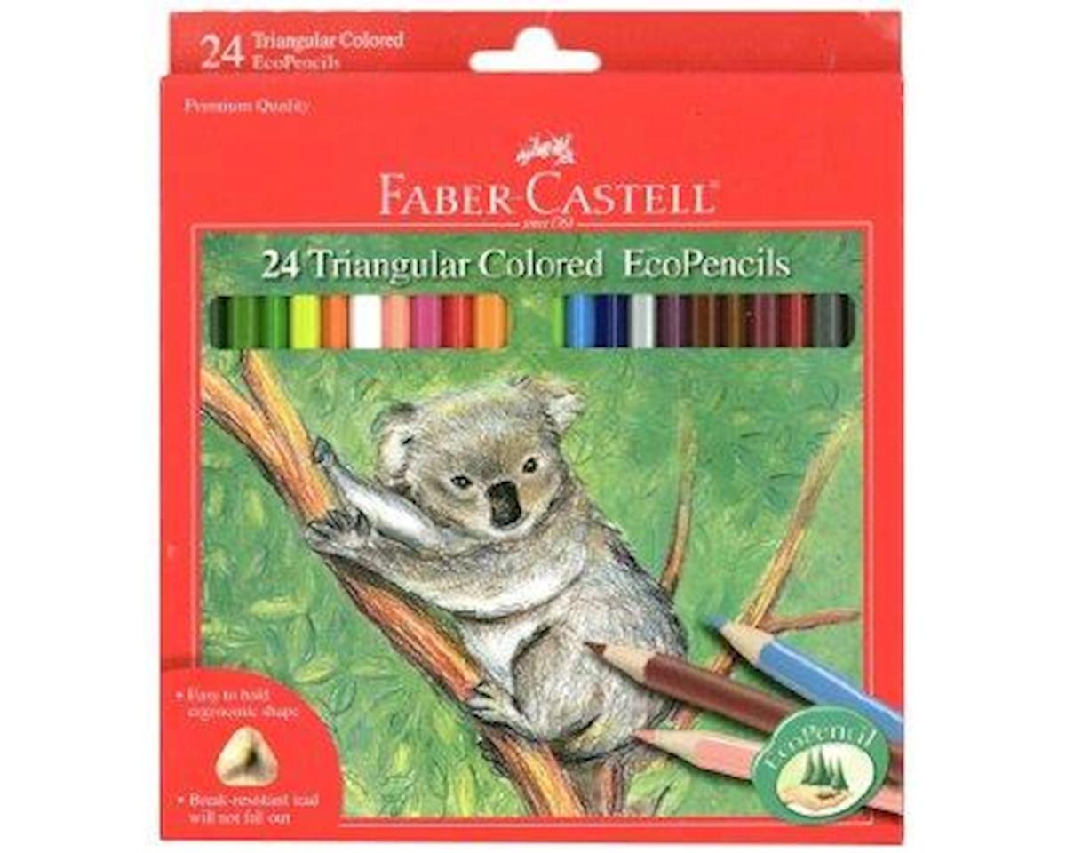 Faber-Castell 24Ct Triangl Colored Ecopencils