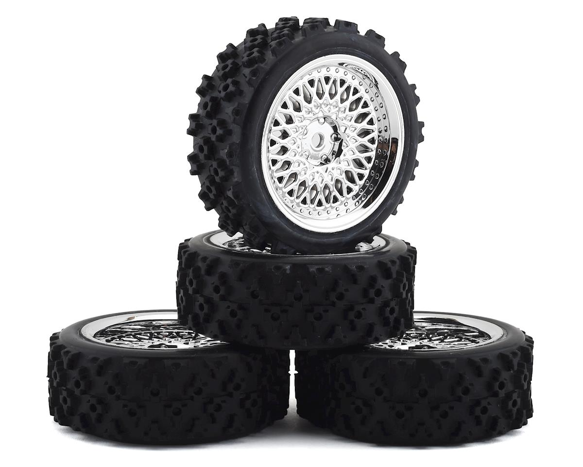 Firebrand RC Crownjewel RXG3 Gymkhana Pre-Mounted Rally Tires (4) (Chrome)