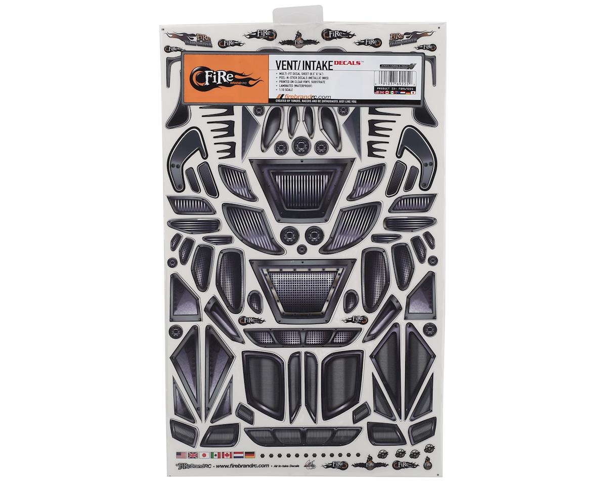 """Firebrand RC Air Intakes & Vents Multi-Fit Decal Sheet (8.5x14"""")"""