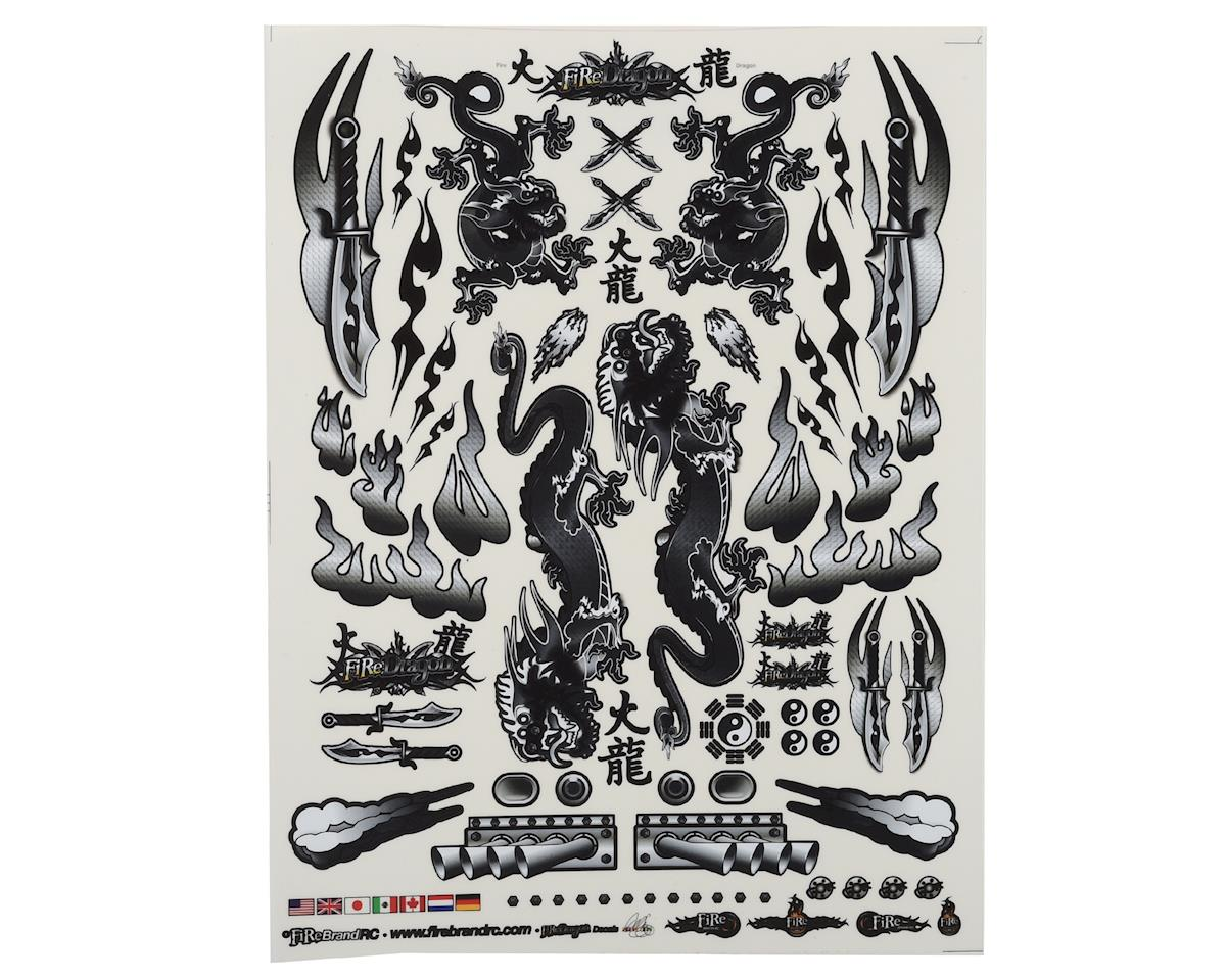 "Firebrand RC Concept Dragon Decal (Black) (8.5x11"")"