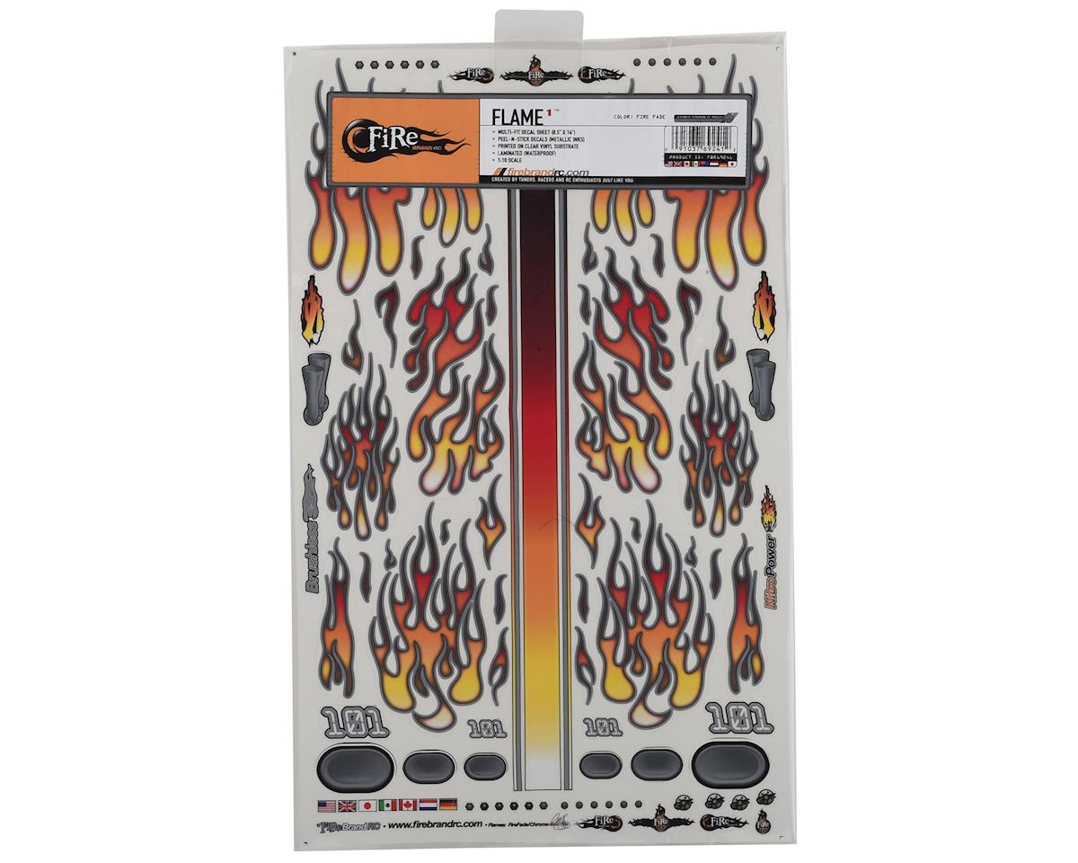 "Firebrand RC Flames Fire Fade Decal Sheet (Orange/Red) (8.5x14"")"