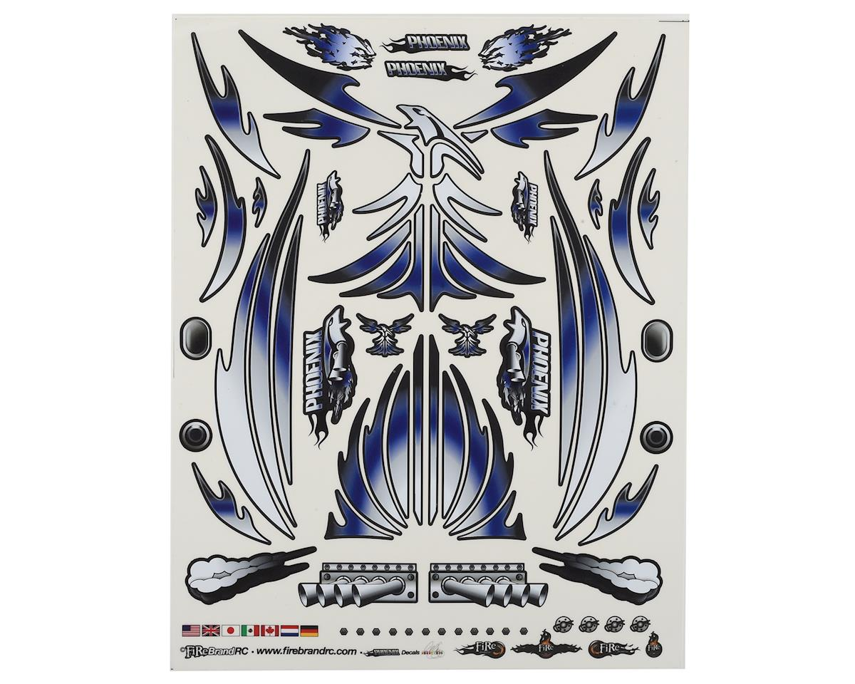 "Firebrand RC Concept Phoenix Decal (Blue) (8.5x11"")"