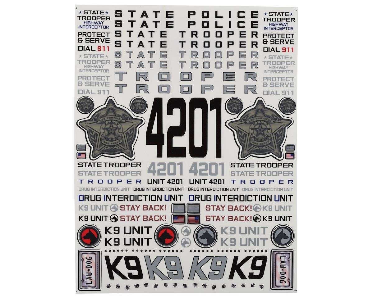 "Firebrand RC State Trooper Decal Sheet (8.5x11"")"