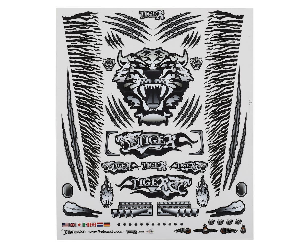 "Firebrand RC Concept Tiger Decal Sheet (Black) (8.5x11"")"