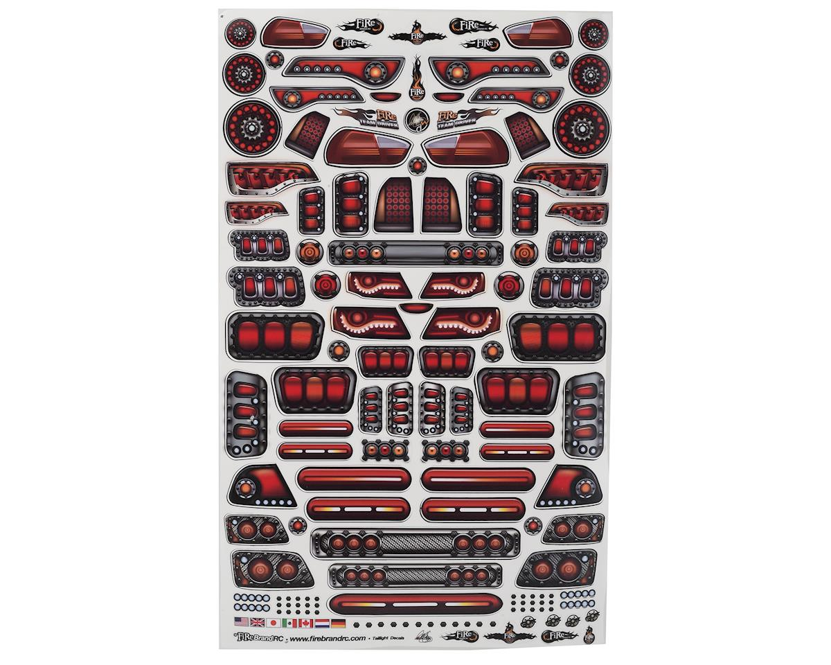 "Firebrand RC Tail Lights Multi-Fit Decal Sheet (8.5x14"") 