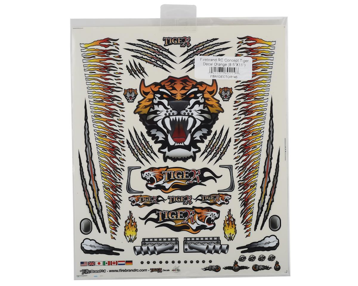 "Firebrand RC Concept Tiger Decal (Orange) (8.5x11"")"