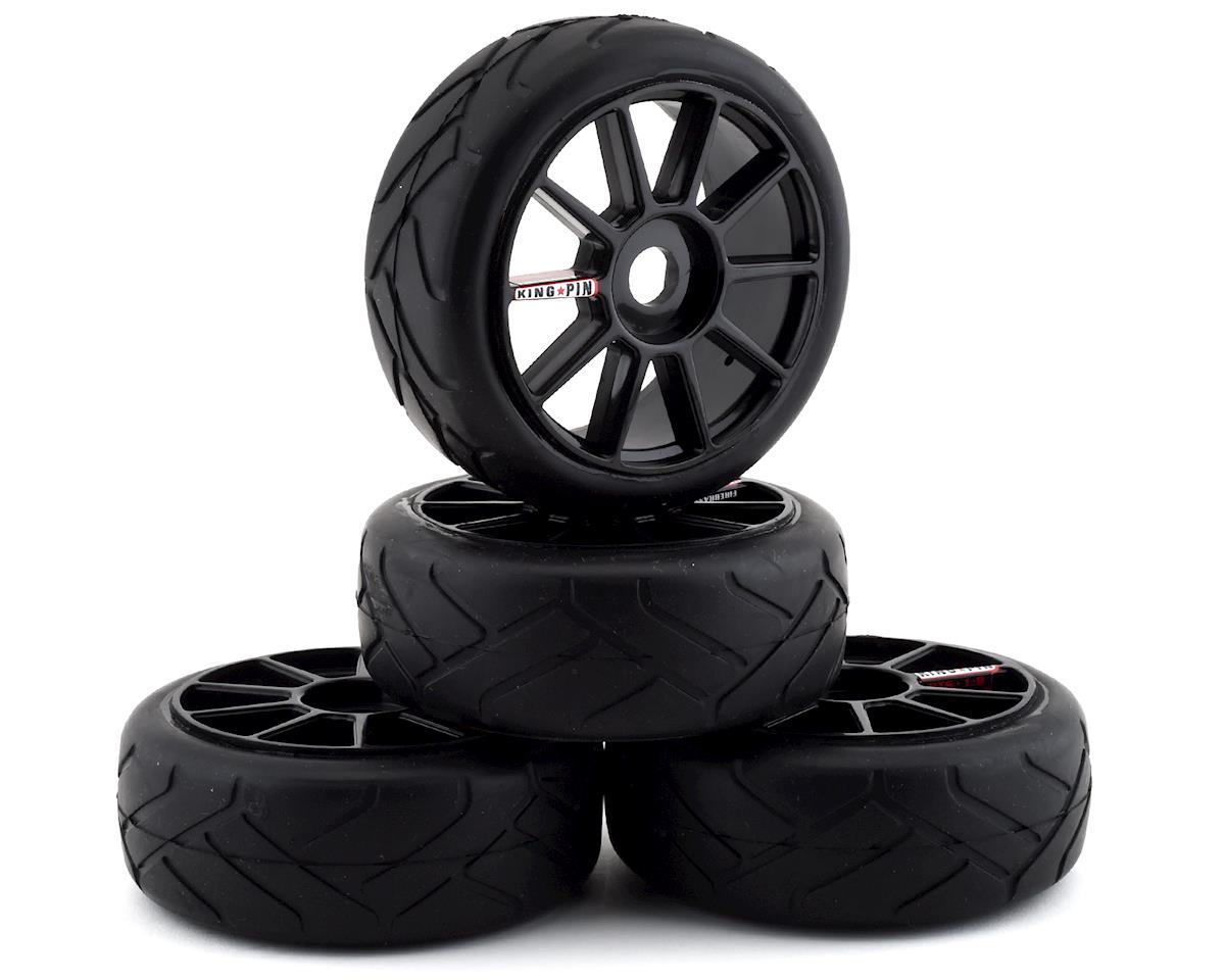 Firebrand RC Kingpin ST Pre-Mounted On-Road Tires (4) (Black)