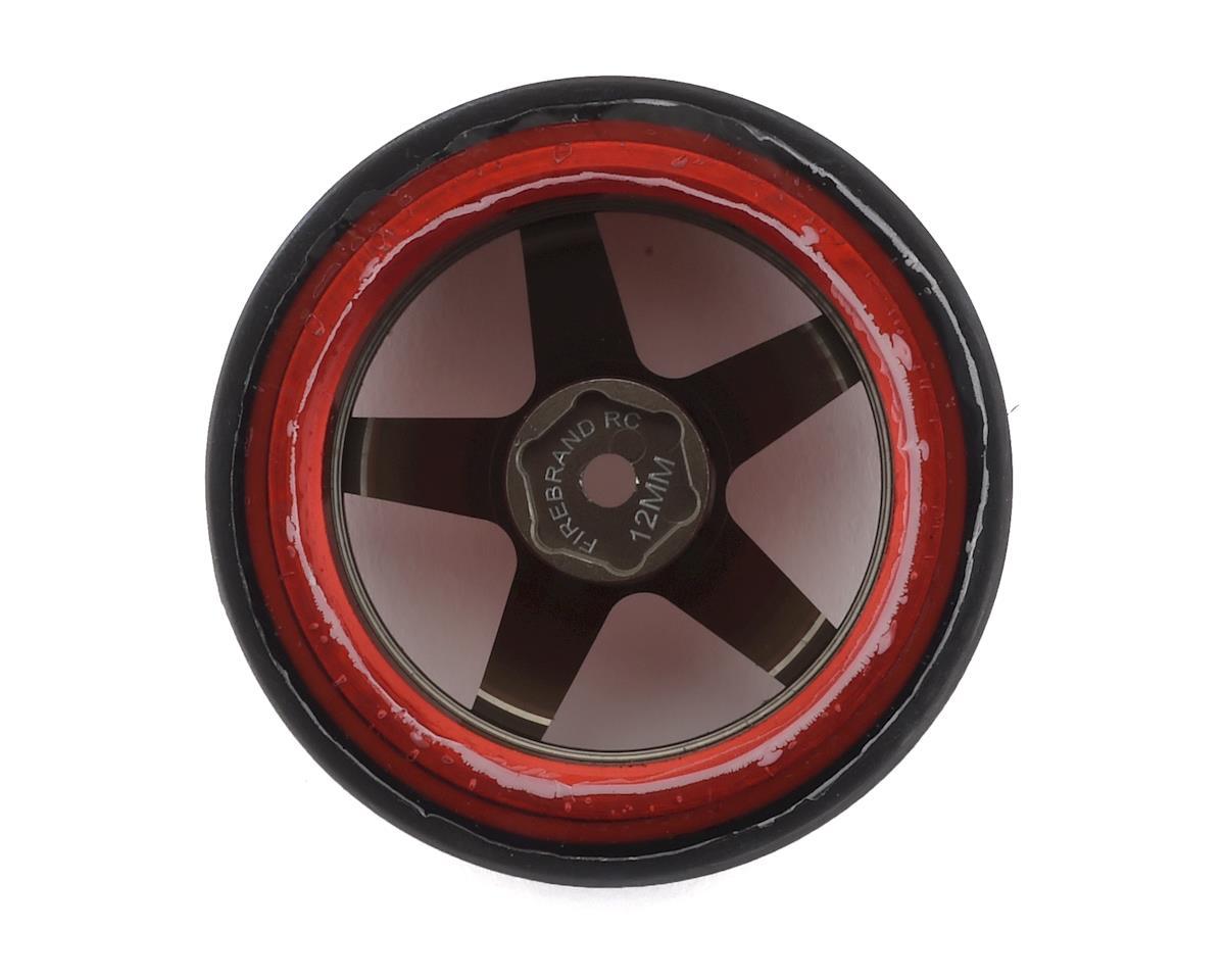 Firebrand RC Aluminum Highfive D2M12 Pre-Mounted Slick Drift Tires (4)