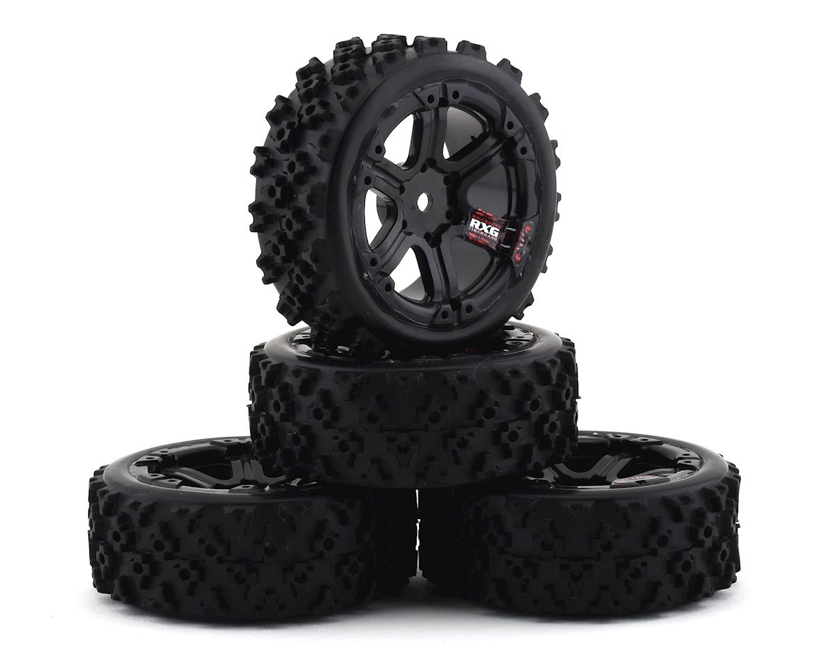 Firebrand RC SnakeEye RXG3 Gymkhana Pre-Mounted Rally Tires (4) (Black)