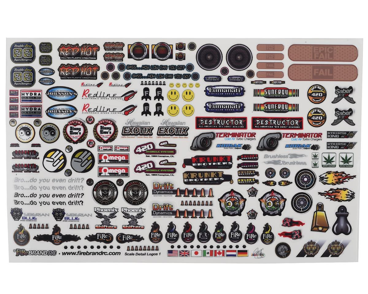 Racing Decals Assortment of Very Small Stickers 50 RC Toys Tool Box Set