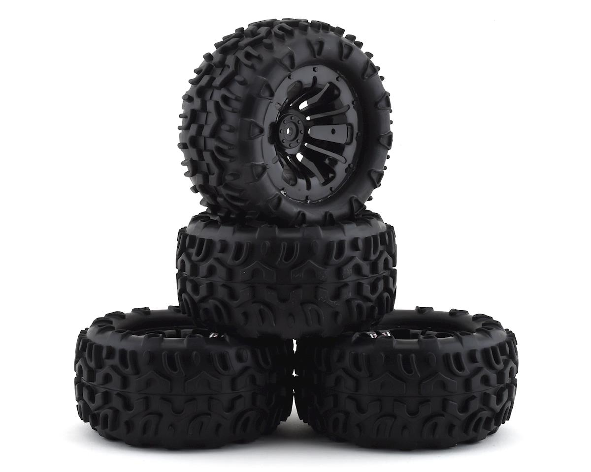 Firebrand RC Terrafire MTX Pre-Mounted Off Road Tires (4) (Black) (Traxxas Stampede)