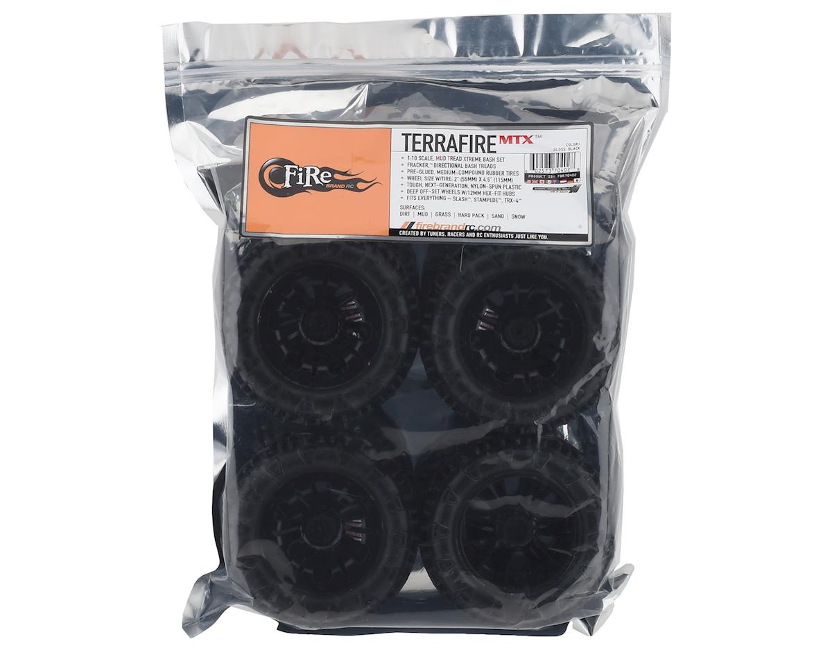 Firebrand RC Terrafire MTX Pre-Mounted Off Road Tires (4) (Black)