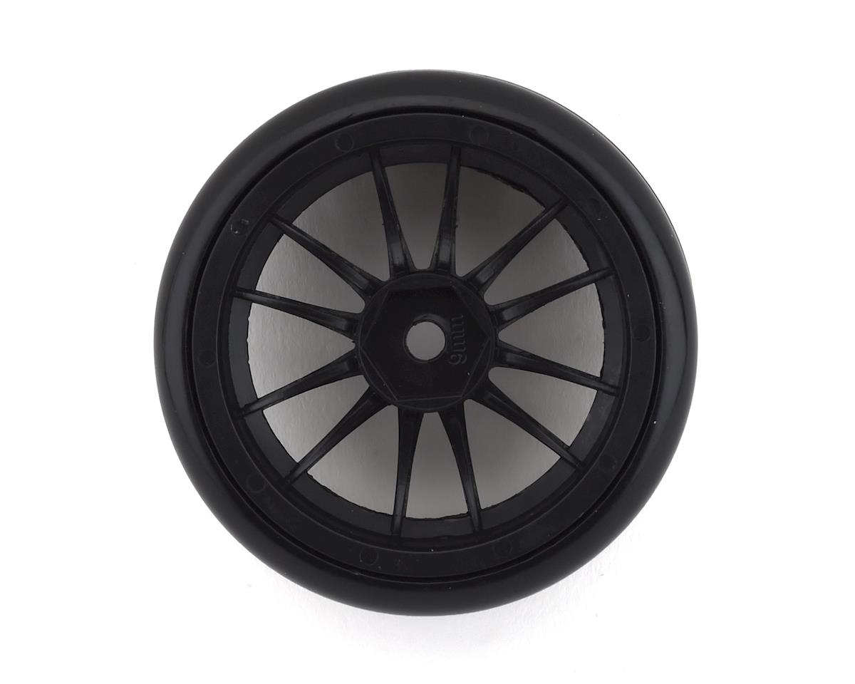 Firebrand RC Char D9 Pre-Mounted Slick Drift Tires (4) (Black)