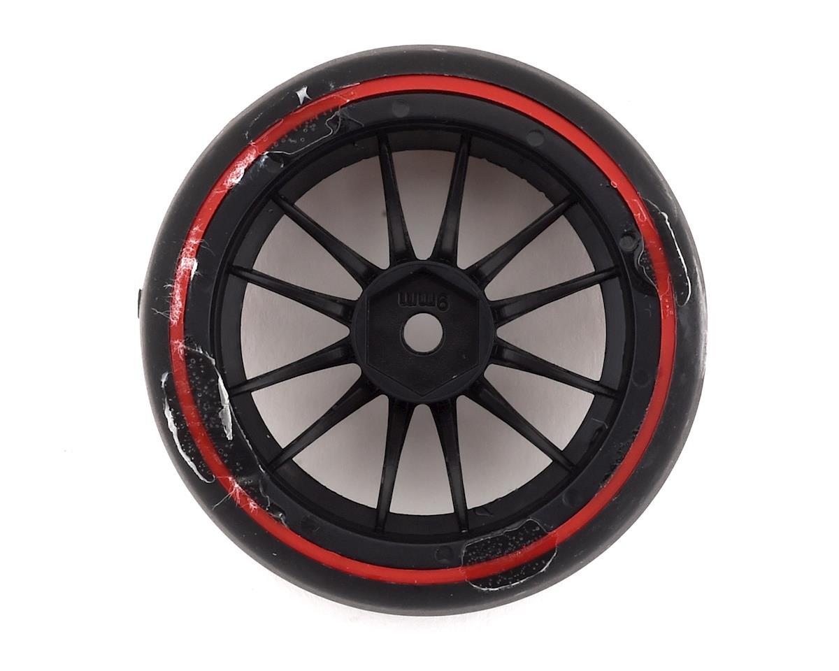 Firebrand RC Char D29R Pre-Mounted 2-Piece Slick Drift Tires (4) (Black/Red)