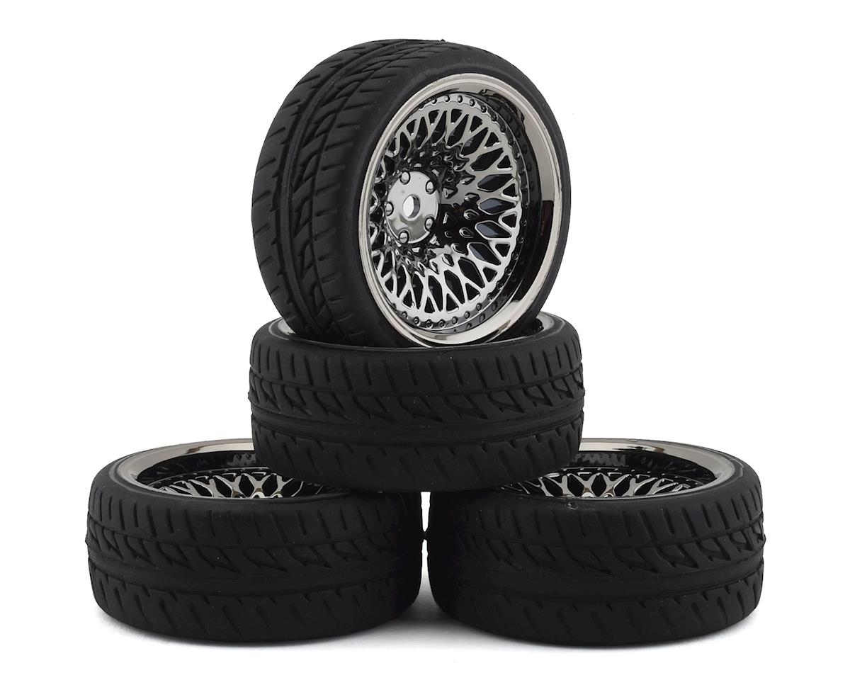 Firebrand RC Crownjewel RT Pre-Mounted On-Road Tires (4) (Smoke Chrome)