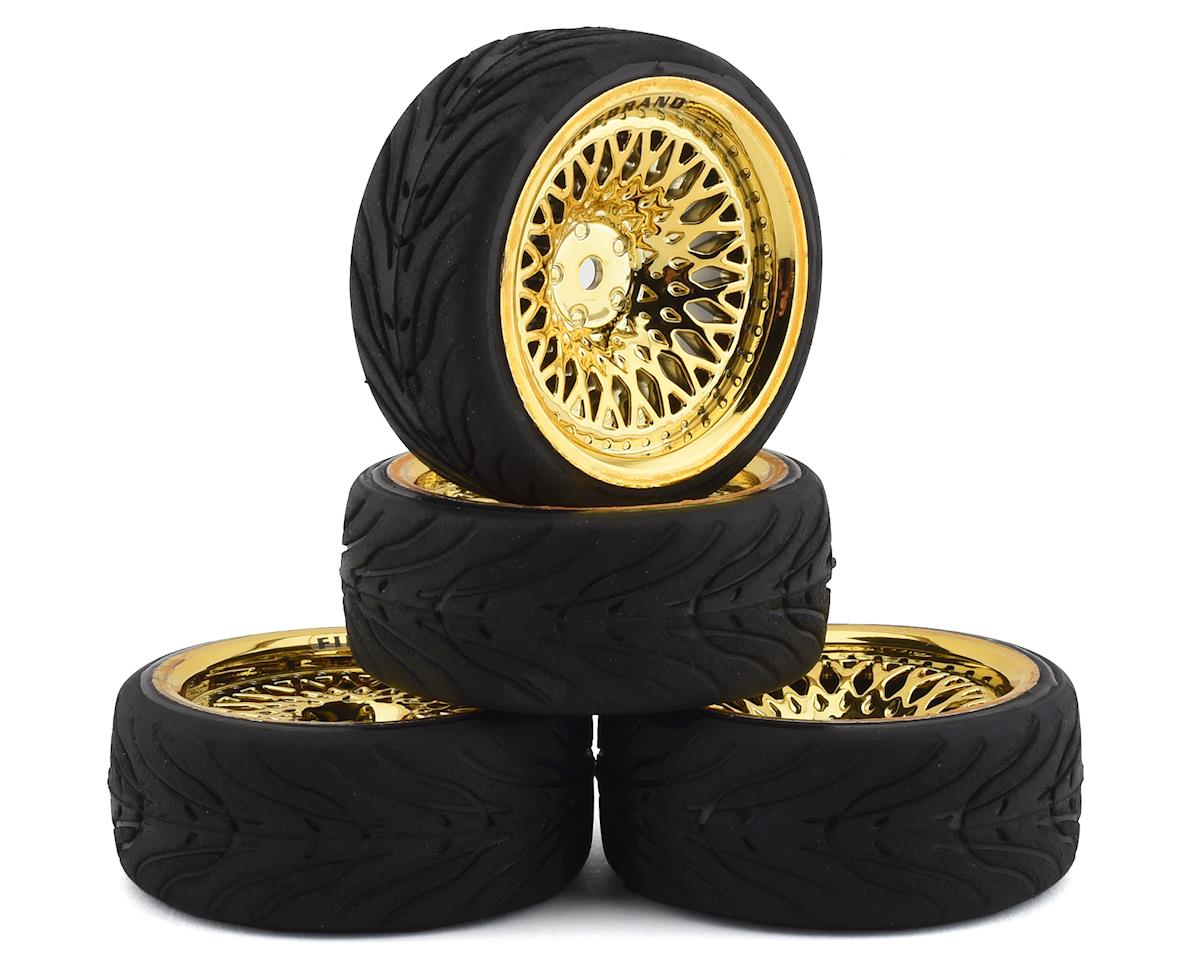 Crownjewel RT39 Pre-Mounted On-Road Tires (4) (Gold)