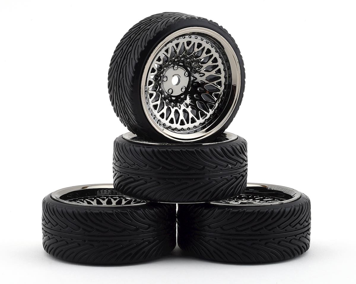 Firebrand RC Crownjewel DT39 Pre-Mounted Drift Tires (4) (Smoke Chrome)