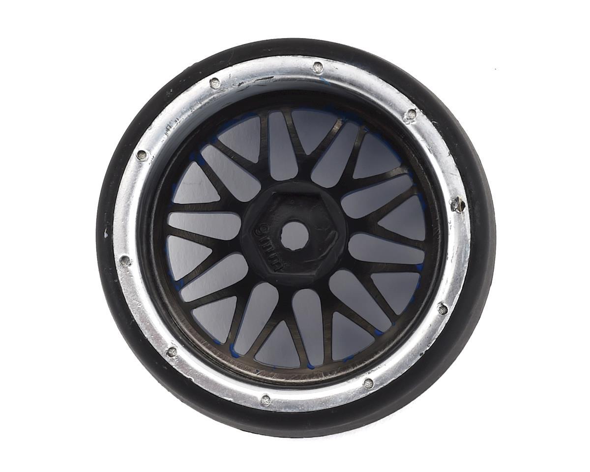Firebrand RC Darkmatter XDR9 5° Pre-Mounted Slick Drift Tires (4) (Blue/Chrome)
