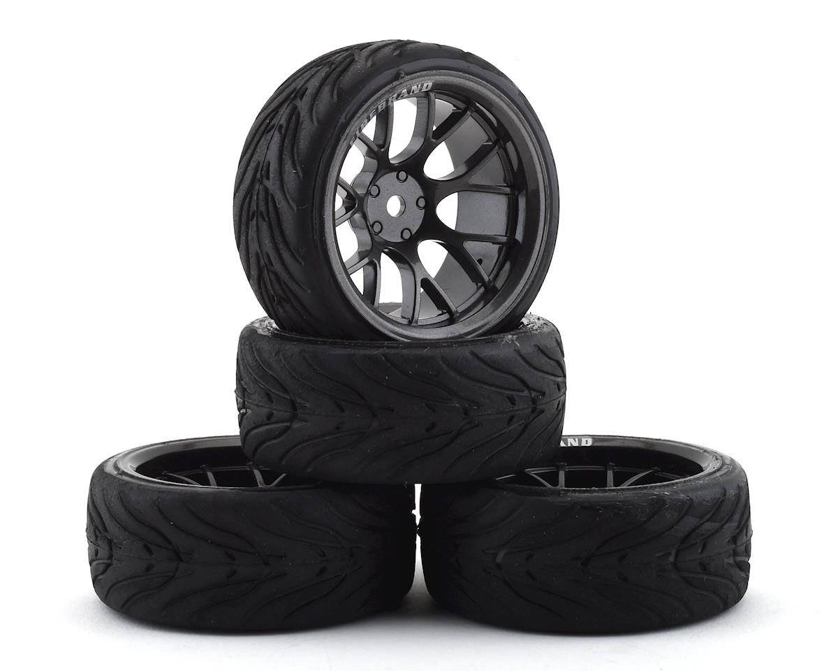 Firebrand RC Hypernova RT9 Pre-Mounted On-Road Tires (4) (Gun Metal)