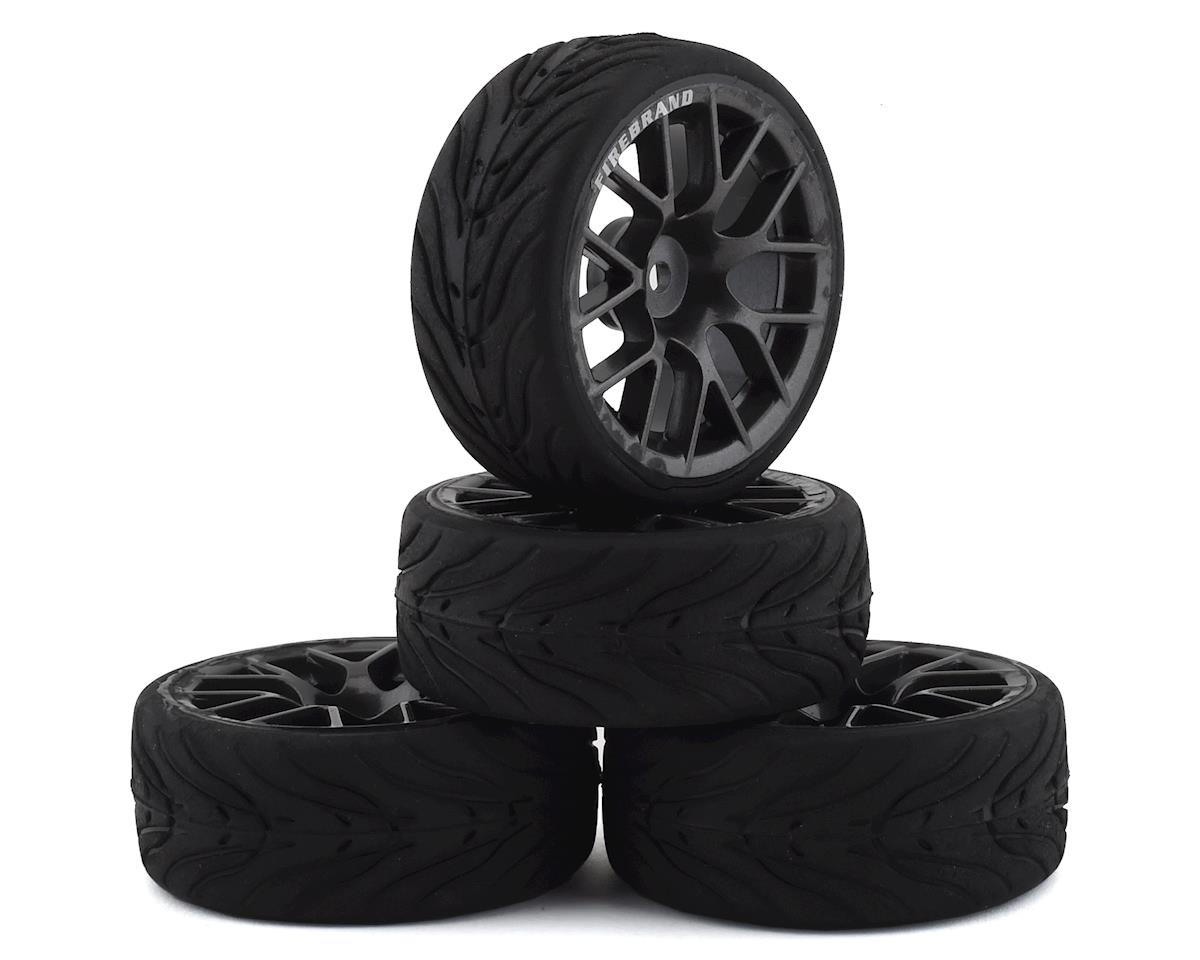 Firebrand RC Hypernova-RT3 Pre-Mounted On-Road Tires (4) (Gun Metal)