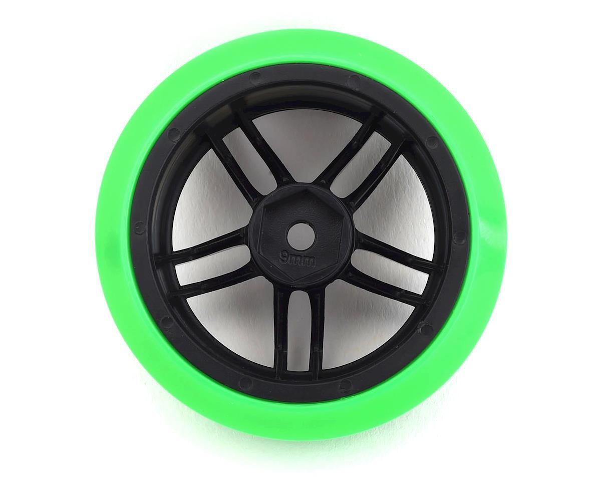 Firebrand RC Icestar XD9 0° Pre-Mounted Slick Drift Tires (4) (Black)
