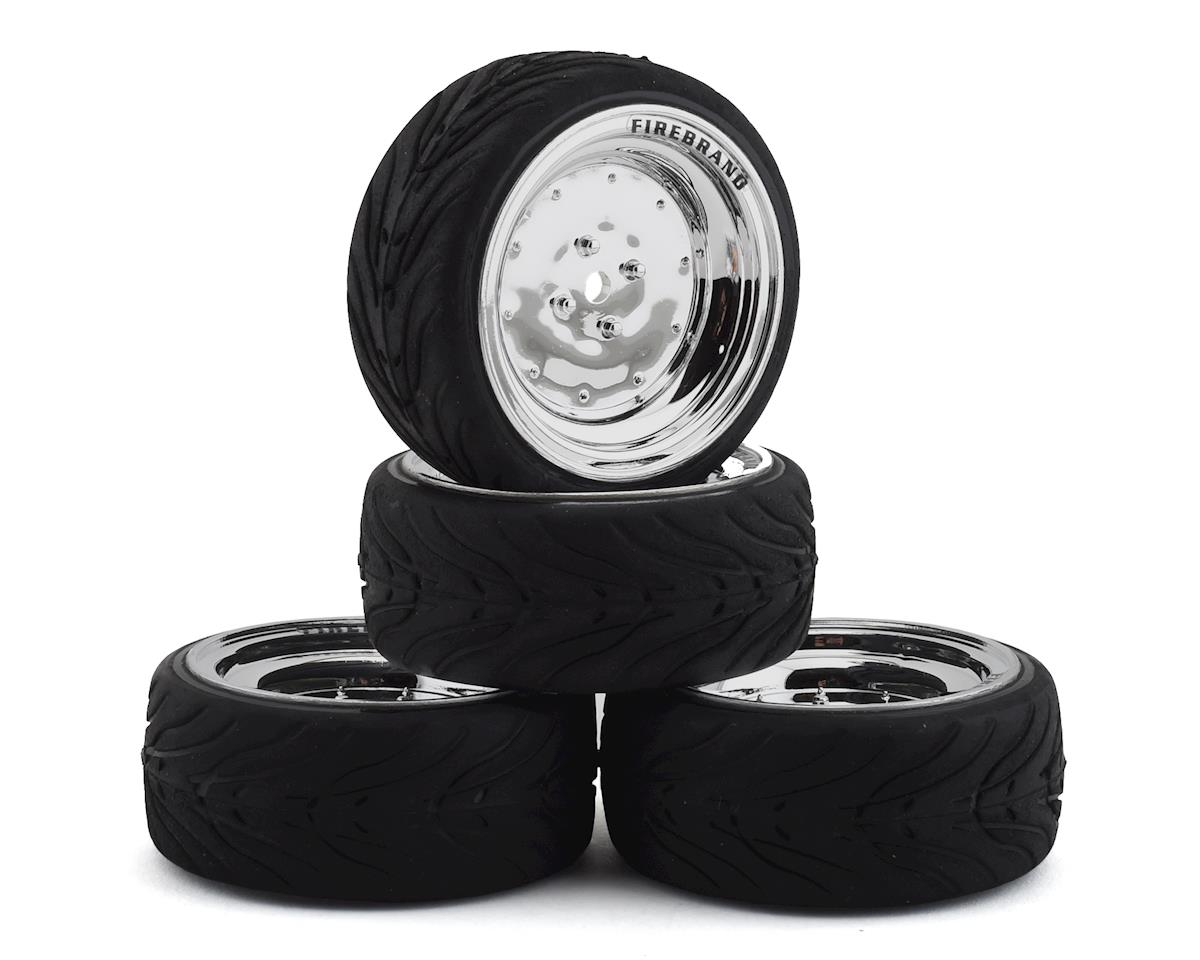 Firebrand RC Retrodrag RT3 Pre-Mounted On-Road Tires (4) (Chrome)