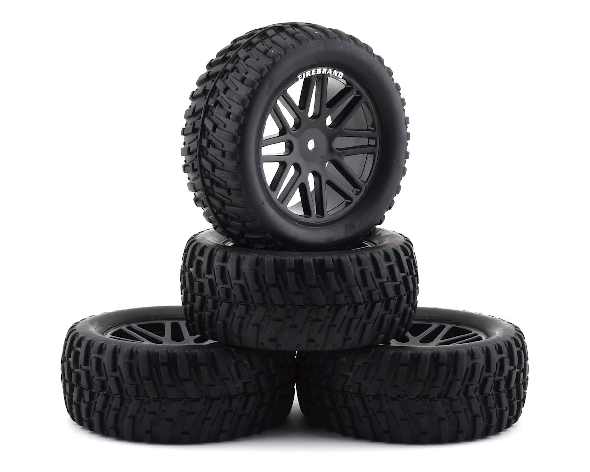 "Firebrand RC Saber VXR 2.2"" Pre-Mounted Truck Tires (4) (Black)"