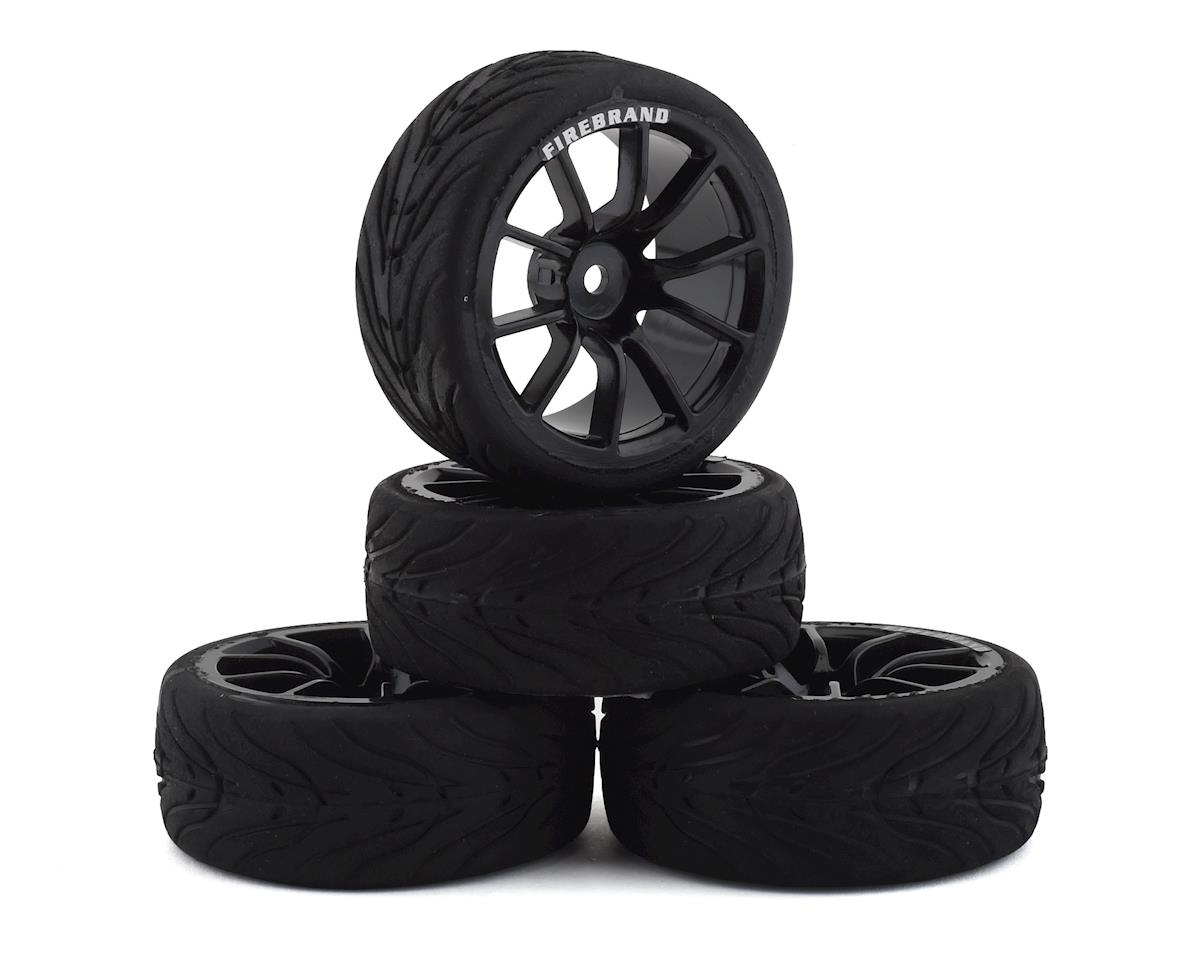 Firebrand RC Turbine RT3 Pre-Mounted On-Road Tires (4) (Black)