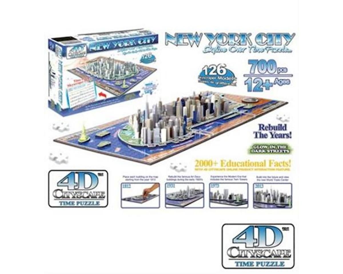 New York City, USA 4D Cityscape Timeline Puzzle (7 by 4D Cityscape