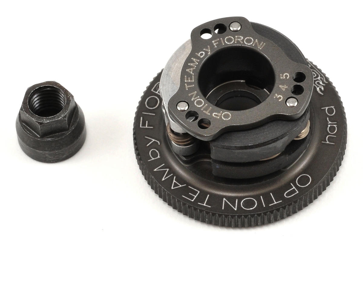 Fioroni Vario Hard Anodized 3 Shoe Adjustable Clutch (2 Carbon/1 Ergal Shoe) (Kyosho Inferno MP7.5)