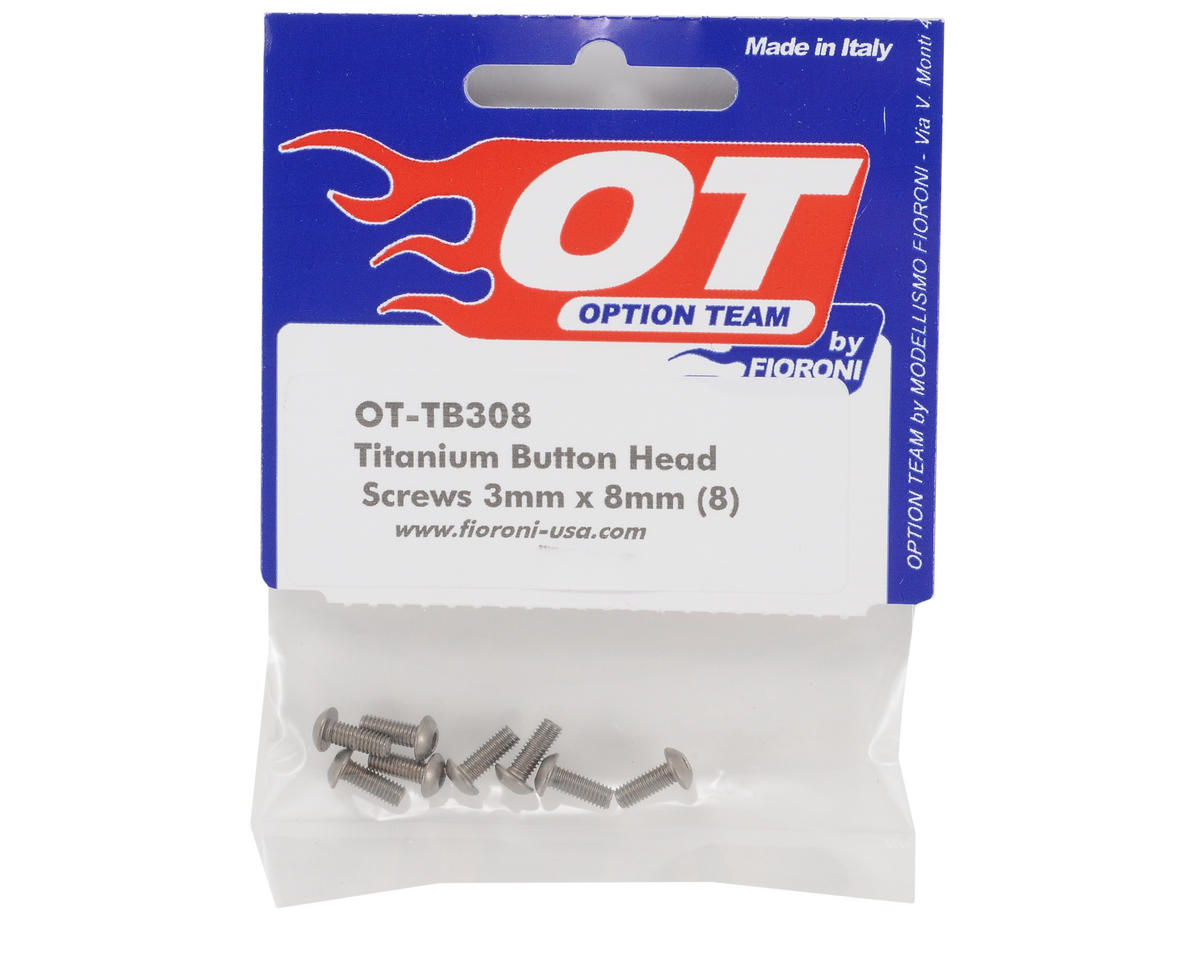 Fioroni 3x8mm Titanium Button Head Screws (8)