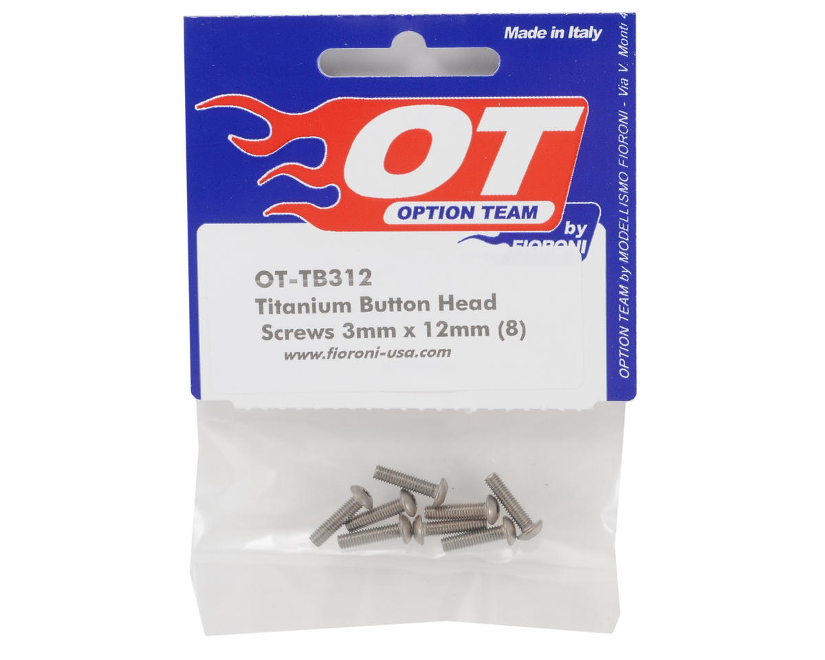 Fioroni 3x12mm Titanium Button Head Screws (8)