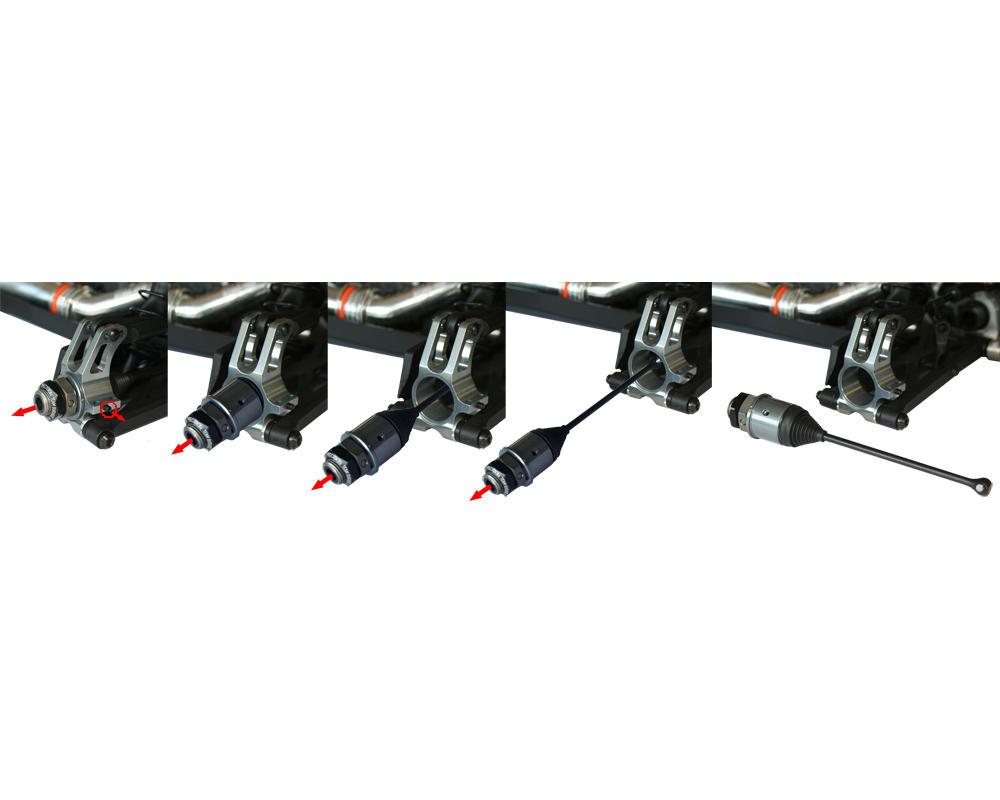 Fioroni Durango DNX408 Ergal Decomposable Rear Hub Carrier Set (0°/1°/2°)