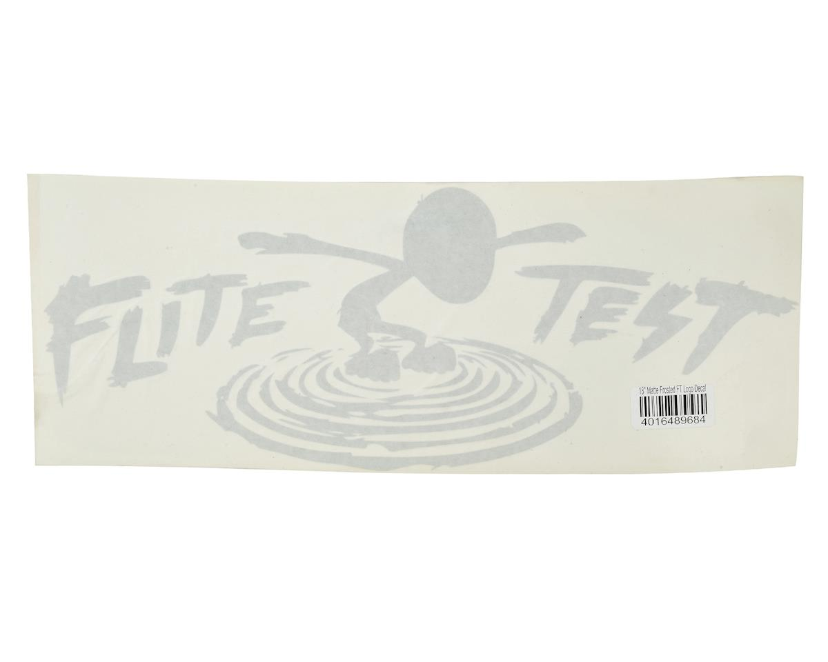 "Flite Test Kraken 18"" FT Logo Decal (Matte Frosted)"