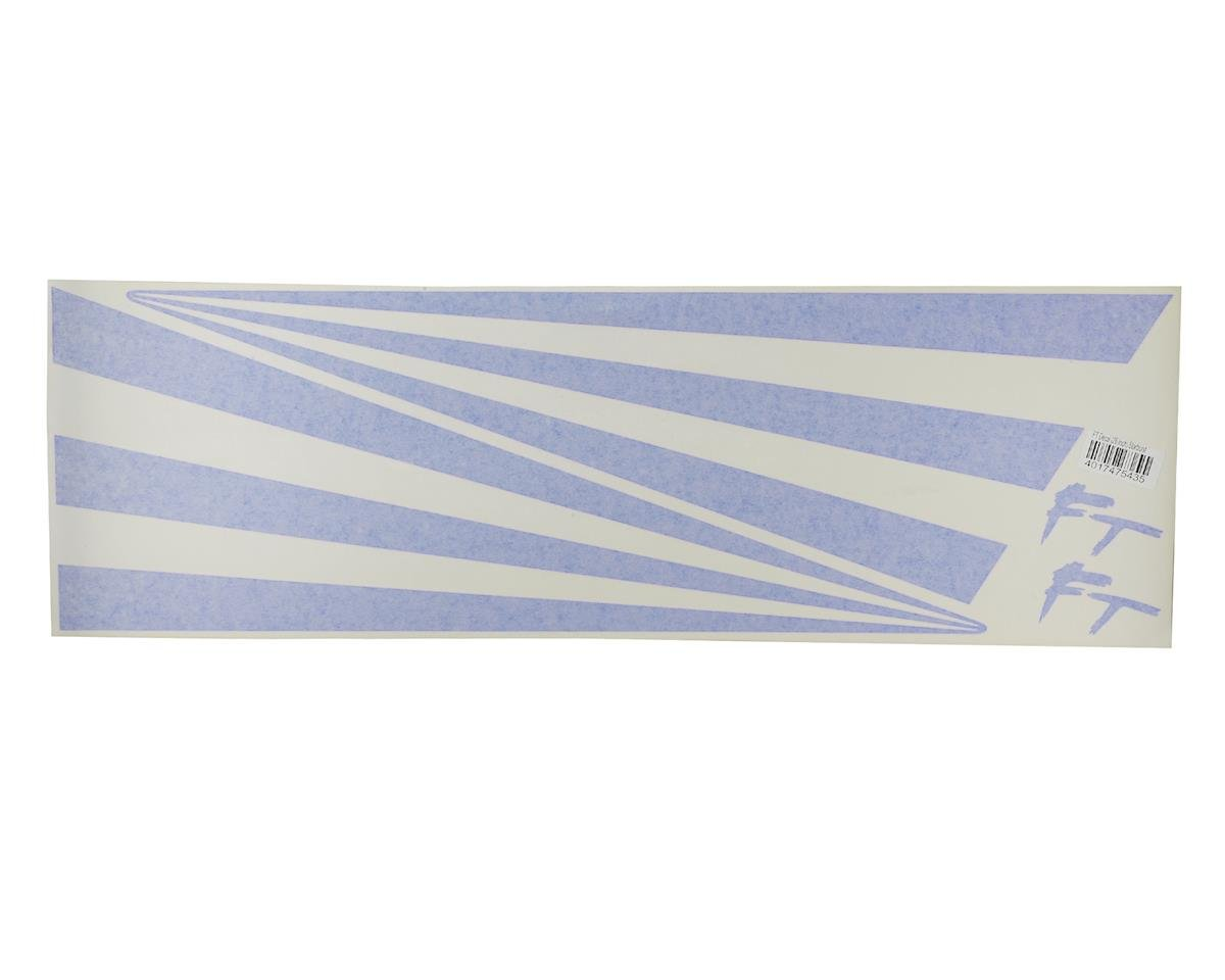 "Flite Test FT Racer 26"" Decal Star-Bursts (Blue)"