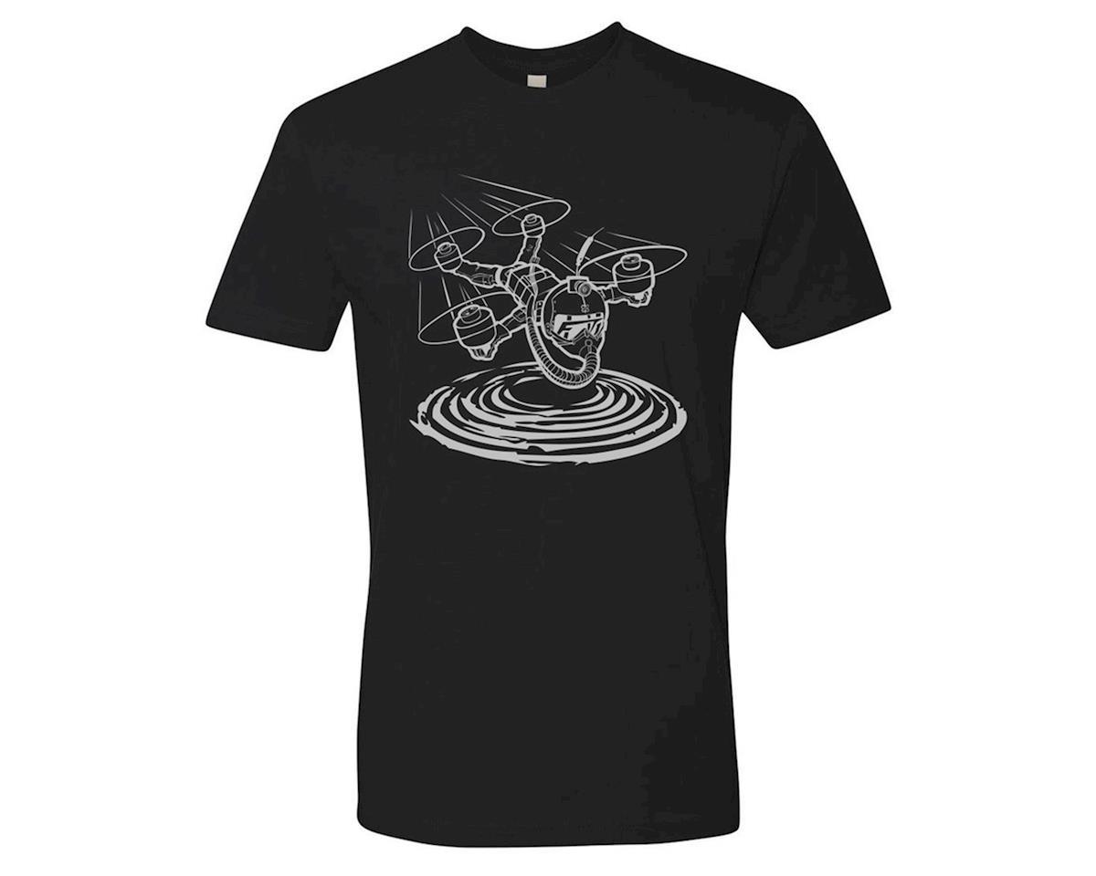 Flite Test Micro Gremlin Black T-Shirt (Silver) (S)