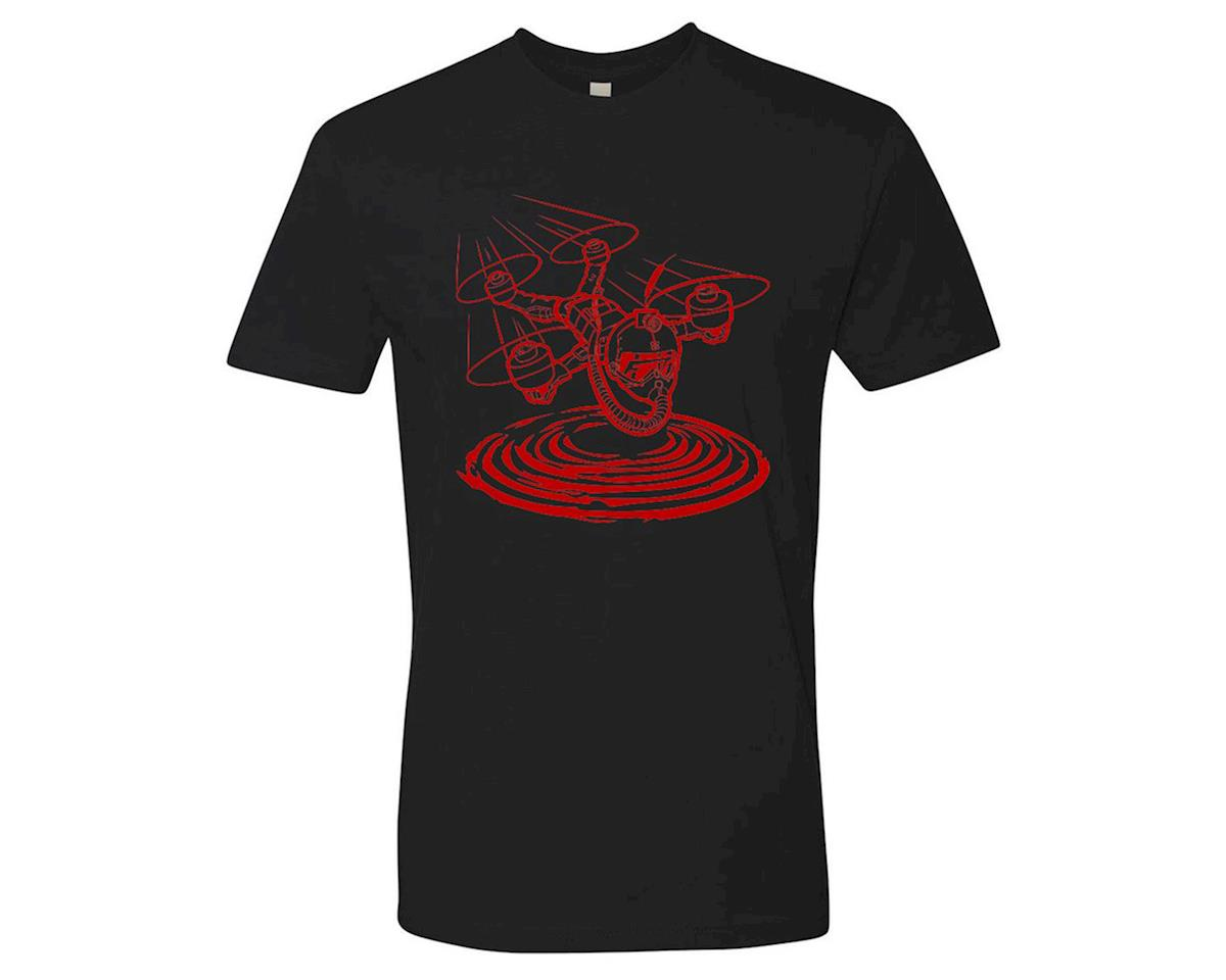 Flite Test Micro Gremlin Black T-Shirt (Red) (M)